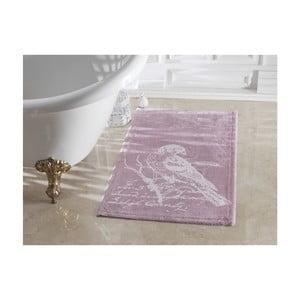 Fialová kúpeľňová predložka Confetti Bathmats Cuckoo Dark and Light Lilac, 70 x 120 cm