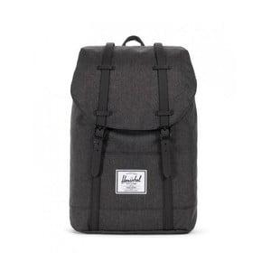 Čierny batoh s čiernymi popruhmi Herschel Retreat