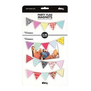 Magnetické Párty vlajočky, 40 ks