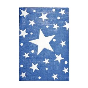 Tmavomodrý detský koberec Happy Rugs Stars, 120×180cm