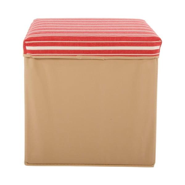 Veľká úložná krabica Puff Beige, 38x38 cm