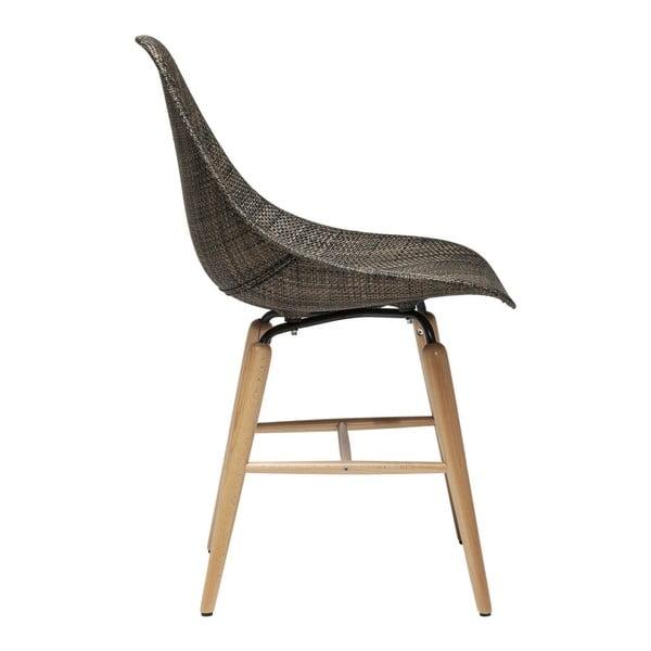 Sada 4 hnedých jedálenských stoličiek Kare Design Forum Wood