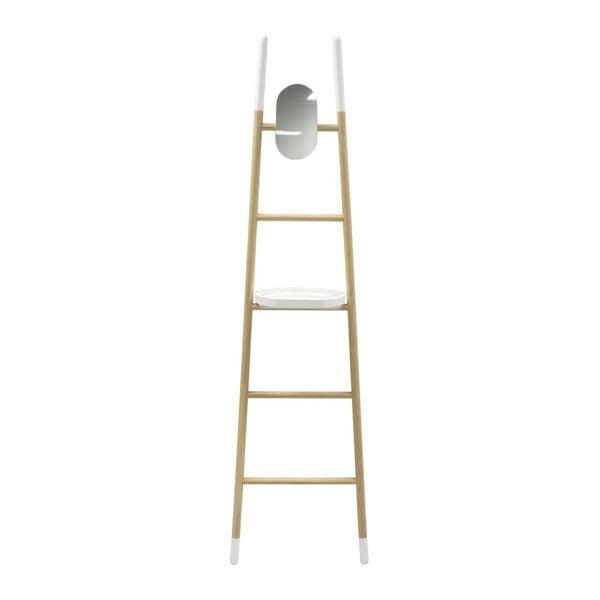 Rebrík so zrkadlom a poličkou Ladder