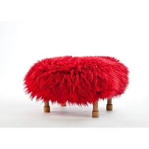 Stolička z ovčej kože Dilys Dragon Red