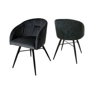 Antracitově sivá stolička Canett Mingo