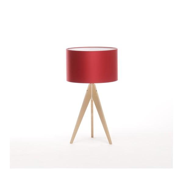 Červená stolová lampa Artist, breza, Ø 33 cm