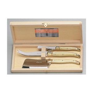 Set 3 nástrojov na syry v drevenom balení Jean Dubost Brass