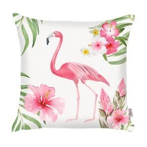 Ružová obliečka na vankúš Apolena Flamingo, 43×43cm