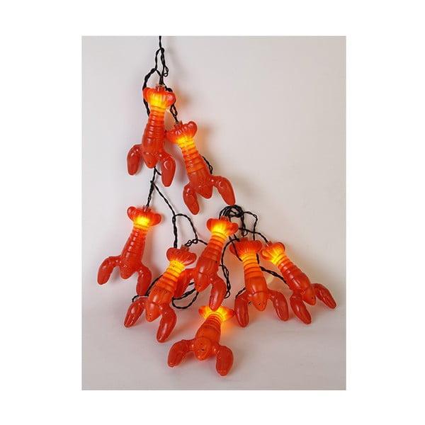 Červená svetelná LED reťaz Best Season Lobster, 8svetielok
