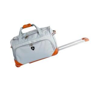 Svetlosivá cestovná taška na kolieskách GENTLEMAN FARMER Sporty, 61 l