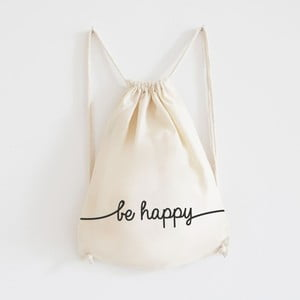 Plátený batoh Be Happy