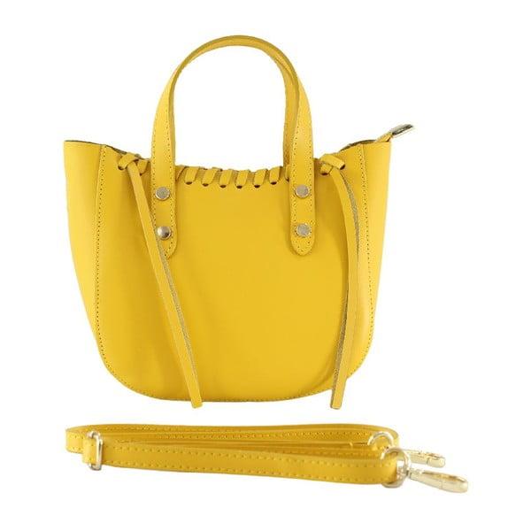 Kožená kabelka Genissa, žltá