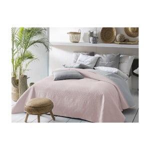 Ružovo-sivý obojstranný pléd cez posteľ Slowdeco Buenos, 170×210 cm