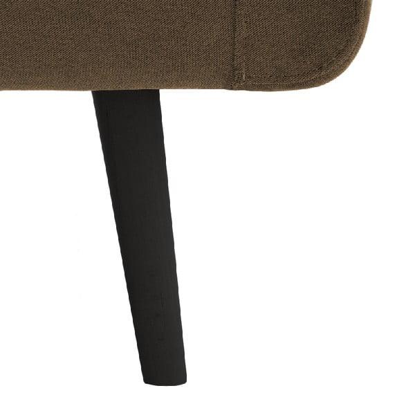 Svetlohnedá trojmiestna pohovka VIVONITA Sondero, ľavá strana a čierne nohy