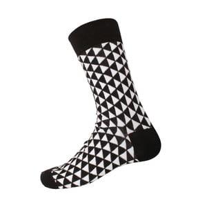 Ponožky Retro Black/White, veľkosť 40-44