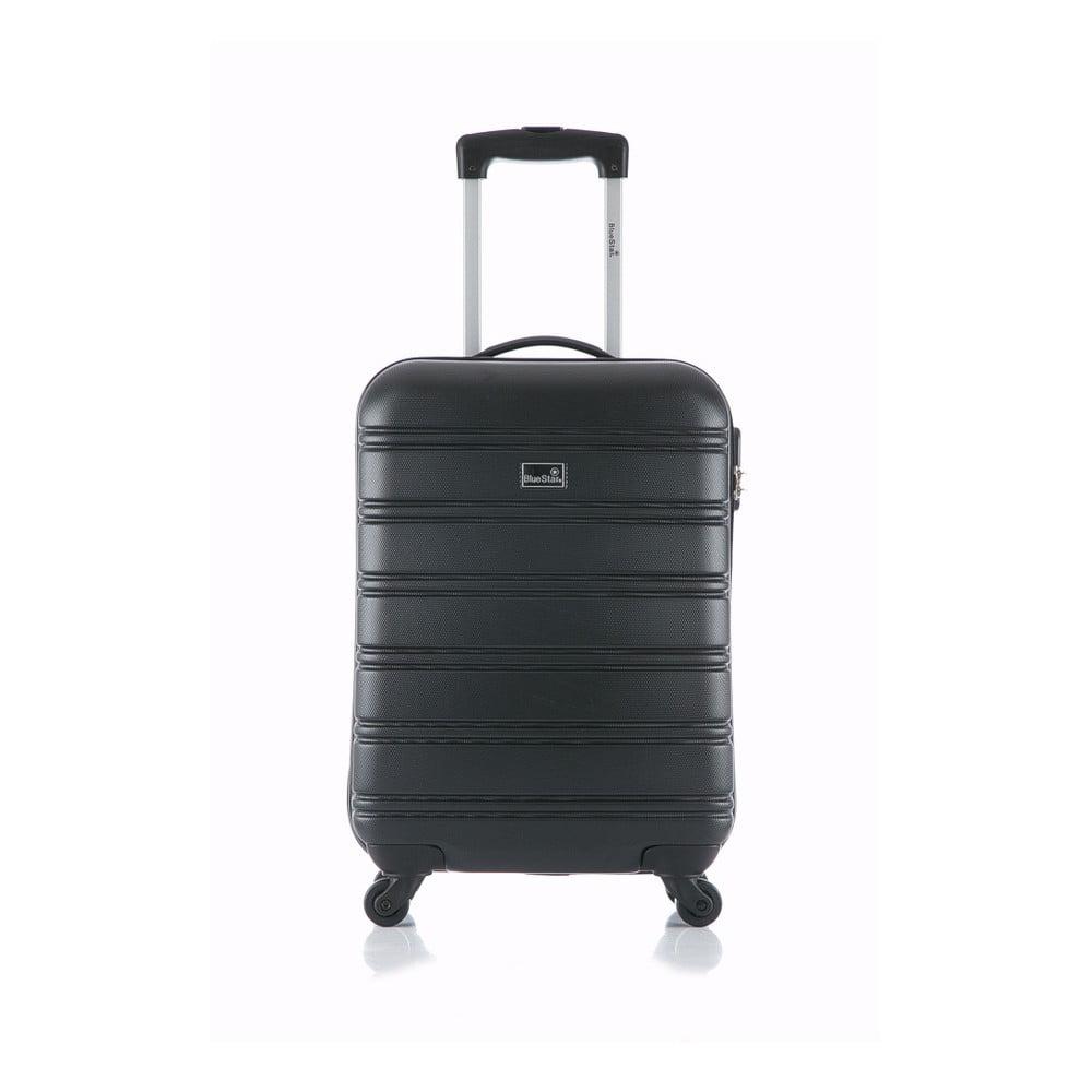 Čierny príručný kufor na kolieskach Blue Star Bilbao, 35 l