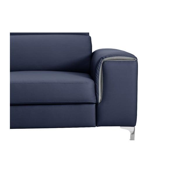 Modrá pohovka Modernist Serafino, pravý roh