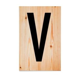 Drevená ceduľa Letters V