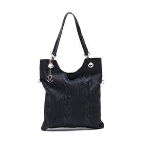 Kožená kabelka Catalina, čierna