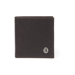 Hnedá pánska kožená peňaženka Trussardi Dollar, 12,5 × 9,5 cm