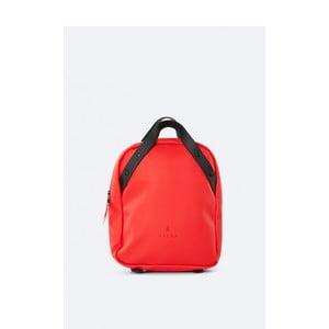 Červený batoh s vysokou vodoodolnosťou Rains Go