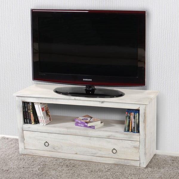 Biely stolík na televízor Mendler Shabby Chic