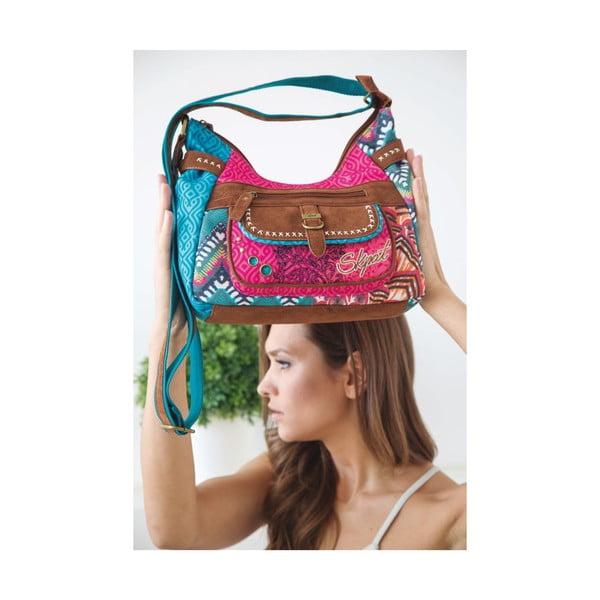 Pestrofarebná kabelka SKPA-T, 38 x 25 cm