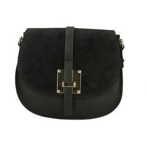Čierna kožená kabelka Roberto Buono Giulietta