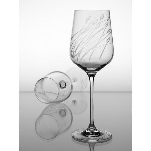 Ateliér Žampach, set 2 ks pohárov na biele víno Áron