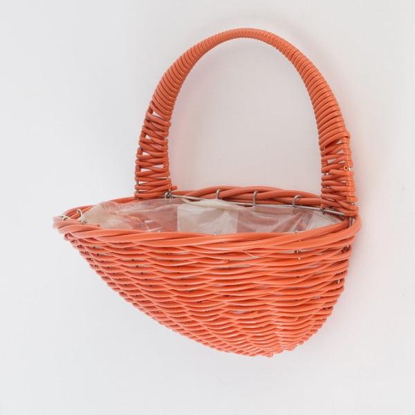 Nástenný ratanový kvetináč Baskie Orange