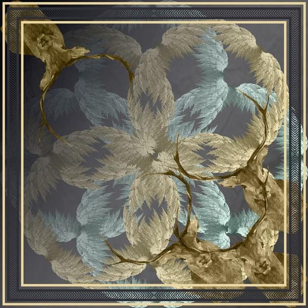 Šatka Stag Blue, 130x130 cm