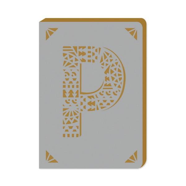 Linajkový zápisník A6 s monogramom Portico Designs P, 160stránok
