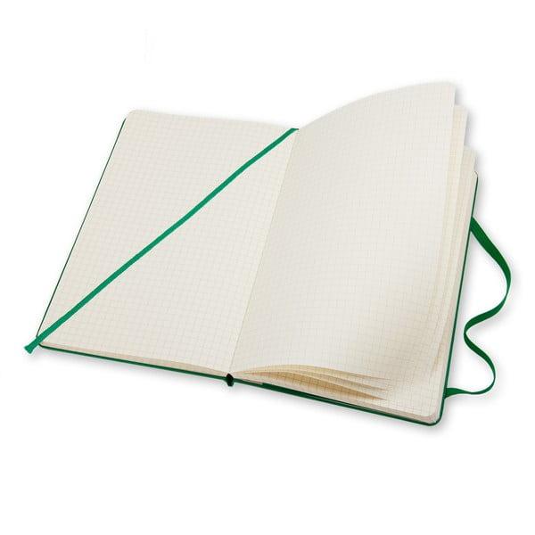 Malý zelený zápisník Moleskine Hard, štvorčekovaný