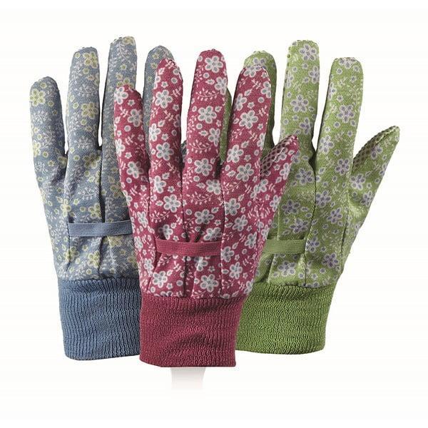 Sada 3 záhradných rukavíc Falling Flowers