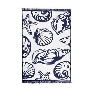 Modro-biely obojstranný koberec Homedebleu Oyster, 80×150cm