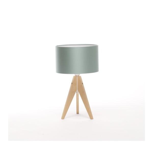 Oceľovomodrá stolová lampa Artist, breza, Ø 25 cm