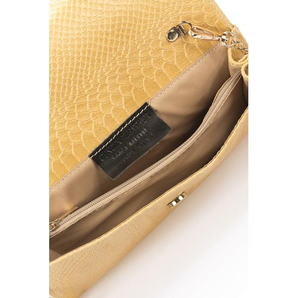 Koňakovohnedá kožená listová kabelka Giorgio Costa Pythio