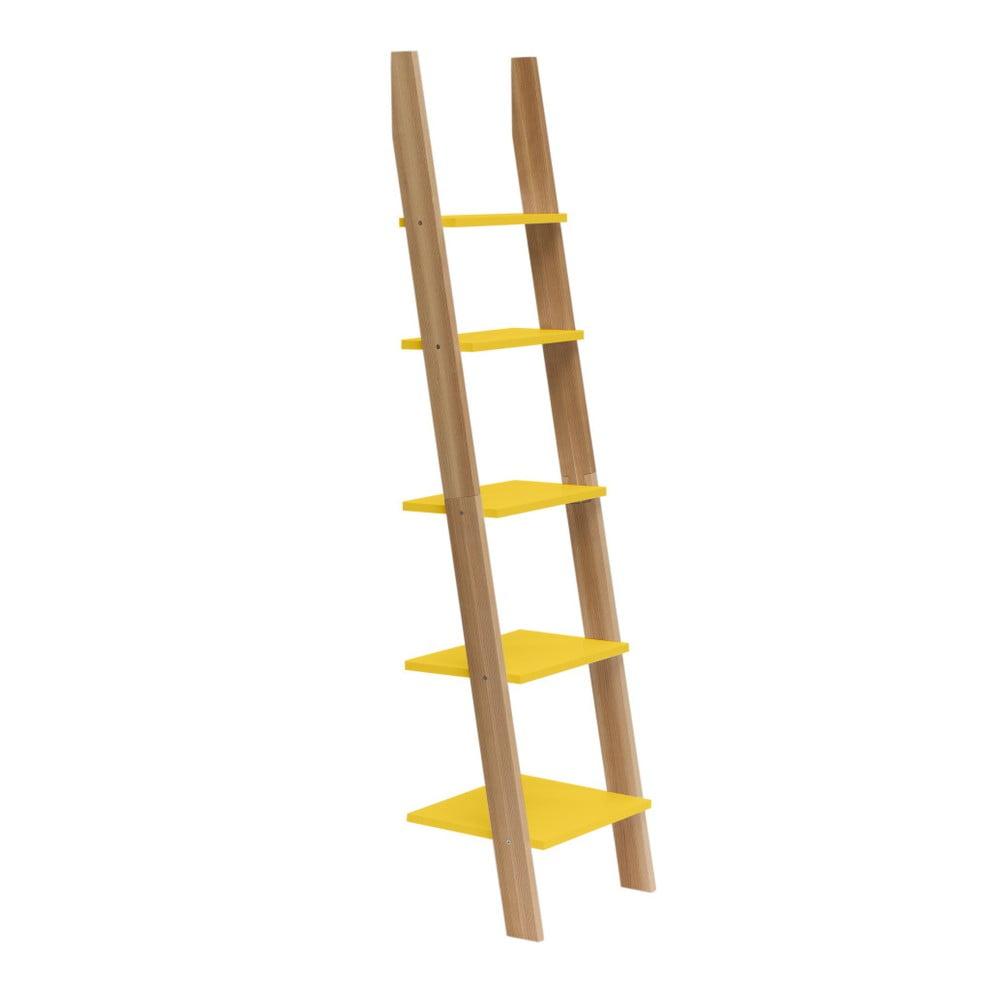 Žltá rebríková polica Ragaba ASHME, šírka 45 cm