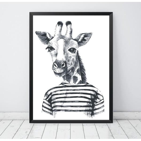 Plagát Nord & Co Hipster Giraffe, 21 x 29 cm