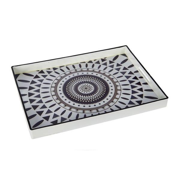 Plastový podnos Black and White, 48x35 cm