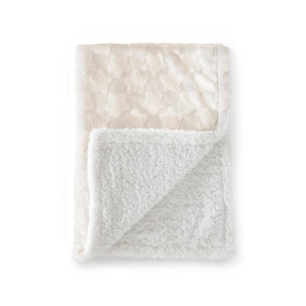 Béžová detská deka z mikrovlákna Tanuki Estrellas, 110 × 140 cm