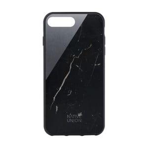Čierny obal na mobilný telefón s detailom z mramoru pre iPhone 7 a 8 Native Union Clic Marble Metal