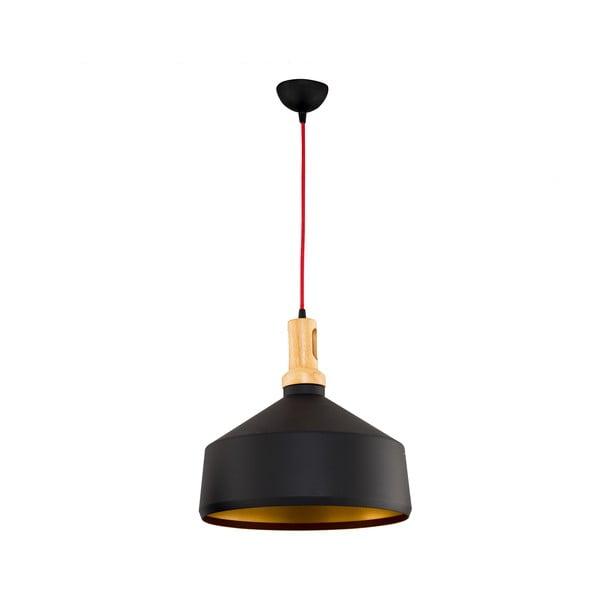 Čierne závesné svietidlo Silvia