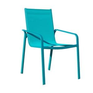 Sada 4 tyrkysových záhradných stoličiek Ezeis Lineal