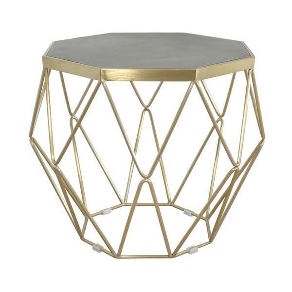 Konferenčný stolík s podnožou v zlatej farbe Livin Hill Glamour, ⌀ 68 cm