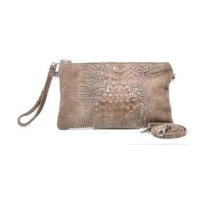Kožená listová kabelka Marie, taupe