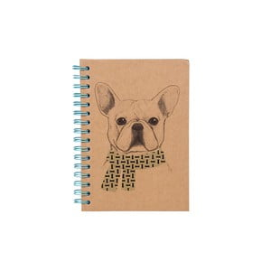 Špirálový zápisník Tri-Coastal Design Gentleman Dog