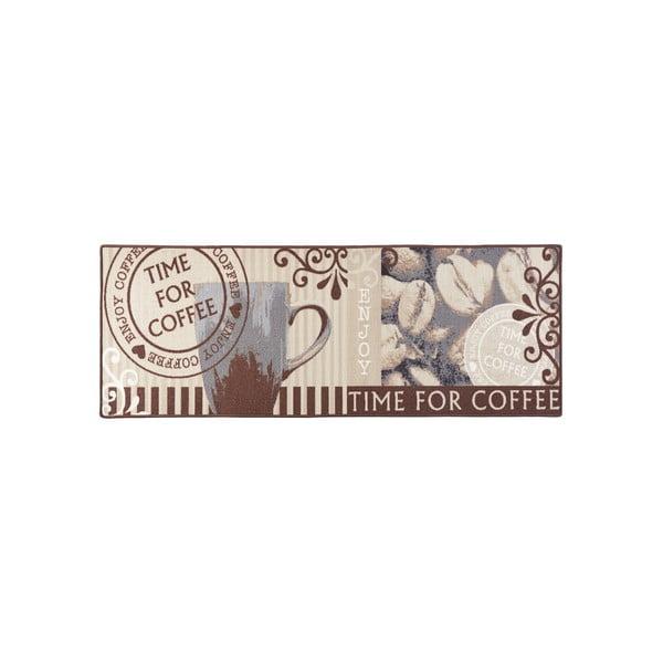 Hnedý kuchynský behúň Zala Living Coffe Time, 67×180cm