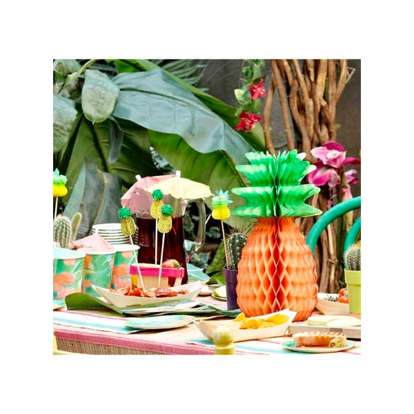 Papierové dekorácie Tropicana Pineapple, 3 kusy
