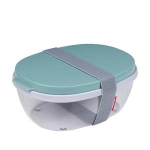 Šalátový box so zeleným vrchnákom Rosti Mepal Ellipse